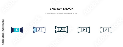 energy snack icon in different style vector illustration Wallpaper Mural