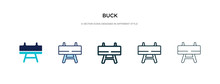 Buck Icon In Different Style V...
