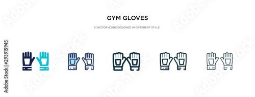 Obraz na plátně gym gloves icon in different style vector illustration