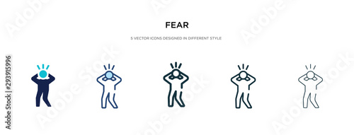 Foto fear icon in different style vector illustration