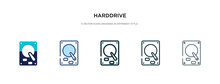 Harddrive Icon In Different St...