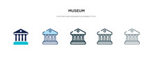 Museum Icon In Different Style...
