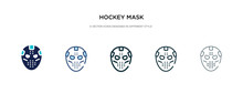 Hockey Mask Icon In Different ...