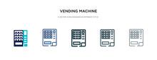 Vending Machine Icon In Differ...