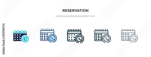 reservation icon in different style vector illustration Fototapet
