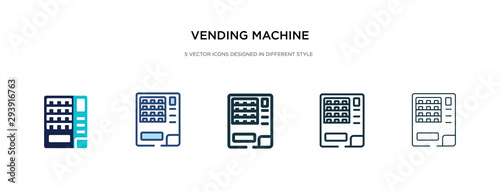 Obraz vending machine icon in different style vector illustration. two colored and black vending machine vector icons designed in filled, outline, line and stroke style can be used for web, mobile, ui - fototapety do salonu