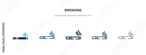 Photo smoking icon in different style vector illustration