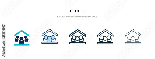 Photo people icon in different style vector illustration