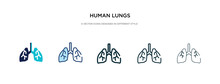 Human Lungs Icon In Different ...