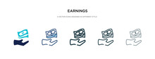Earnings Icon In Different Sty...