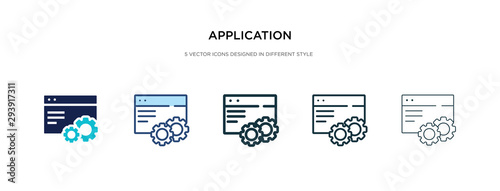 Photo application icon in different style vector illustration
