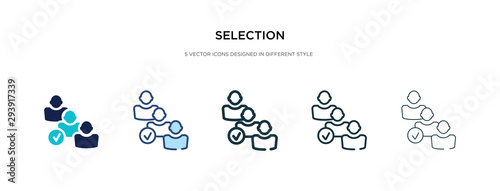 Fototapeta selection icon in different style vector illustration. two colored and black selection vector icons designed in filled, outline, line and stroke style can be used for web, mobile, ui obraz