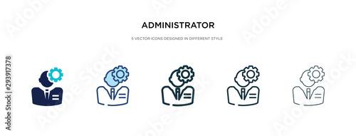Billede på lærred administrator icon in different style vector illustration