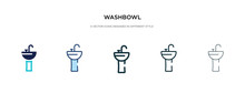 Washbowl Icon In Different Sty...
