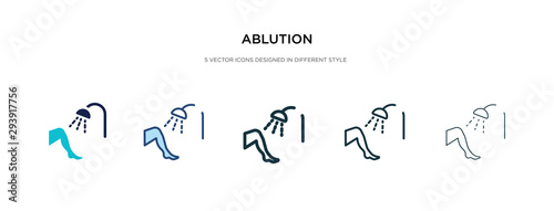 Fotografija ablution icon in different style vector illustration