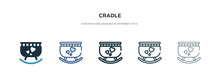 Cradle Icon In Different Style...