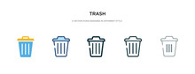 Trash Icon In Different Style ...