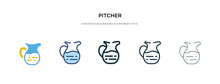 Pitcher Icon In Different Styl...
