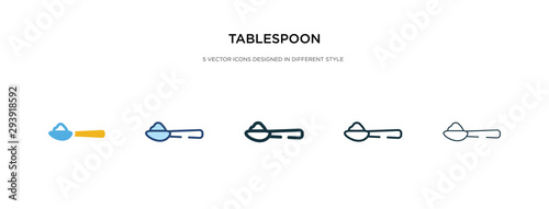 Fényképezés tablespoon icon in different style vector illustration