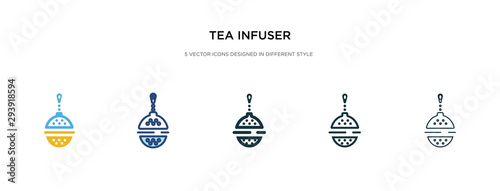 tea infuser icon in different style vector illustration Tapéta, Fotótapéta