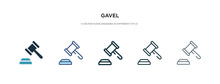 Gavel Icon In Different Style ...