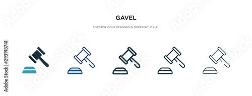 Valokuvatapetti gavel icon in different style vector illustration