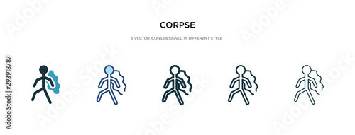 corpse icon in different style vector illustration Canvas Print