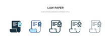 Law Paper Icon In Different St...