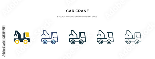 car crane icon in different style vector illustration Wallpaper Mural