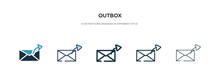 Outbox Icon In Different Style...