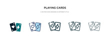 Playing Cards Icon In Differen...
