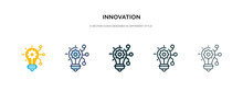 Innovation Icon In Different Style Vector Illustration. Two Colored And Black Innovation Vector Icons Designed In Filled, Outline, Line And Stroke Style Can Be Used For Web, Mobile, Ui