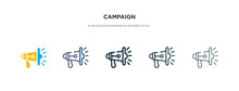 Campaign Icon In Different Sty...