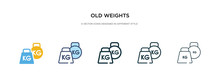 Old Weights Icon In Different ...
