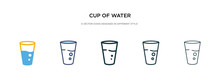 Cup Of Water Icon In Different...