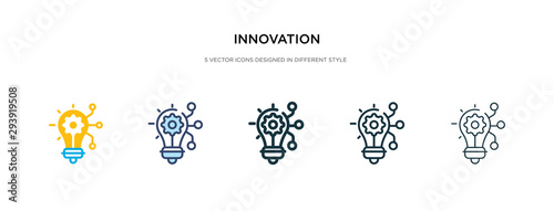 Fototapeta innovation icon in different style vector illustration. two colored and black innovation vector icons designed in filled, outline, line and stroke style can be used for web, mobile, ui obraz