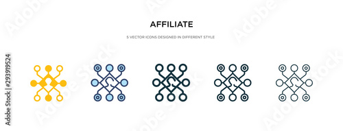 affiliate icon in different style vector illustration Wallpaper Mural