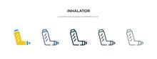 Inhalator Icon In Different St...