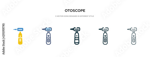 otoscope icon in different style vector illustration Canvas Print