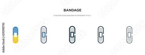 Photo bandage icon in different style vector illustration