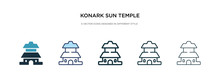 Konark Sun Temple Icon In Diff...