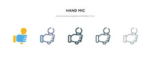 Hand Mic Icon In Different Sty...