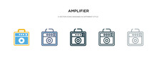 Amplifier Icon In Different St...