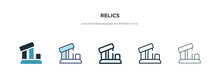 Relics Icon In Different Style...