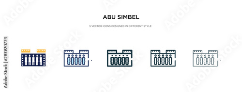 Fototapeta abu simbel icon in different style vector illustration