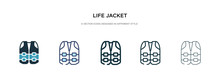 Life Jacket Icon In Different ...