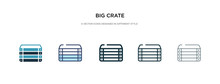 Big Crate Icon In Different St...
