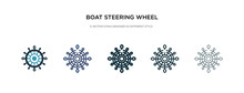 Boat Steering Wheel Icon In Di...