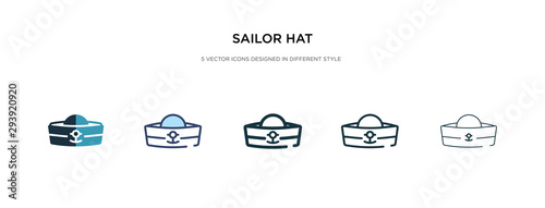 Canvas Print sailor hat icon in different style vector illustration