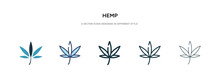 Hemp Icon In Different Style V...